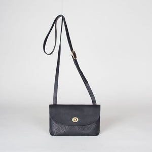 Georgia Shoulder Bag Black Smooth