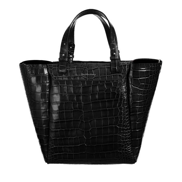 Tote Bag - Black Croco