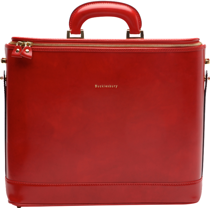 Red Attache Case 15""