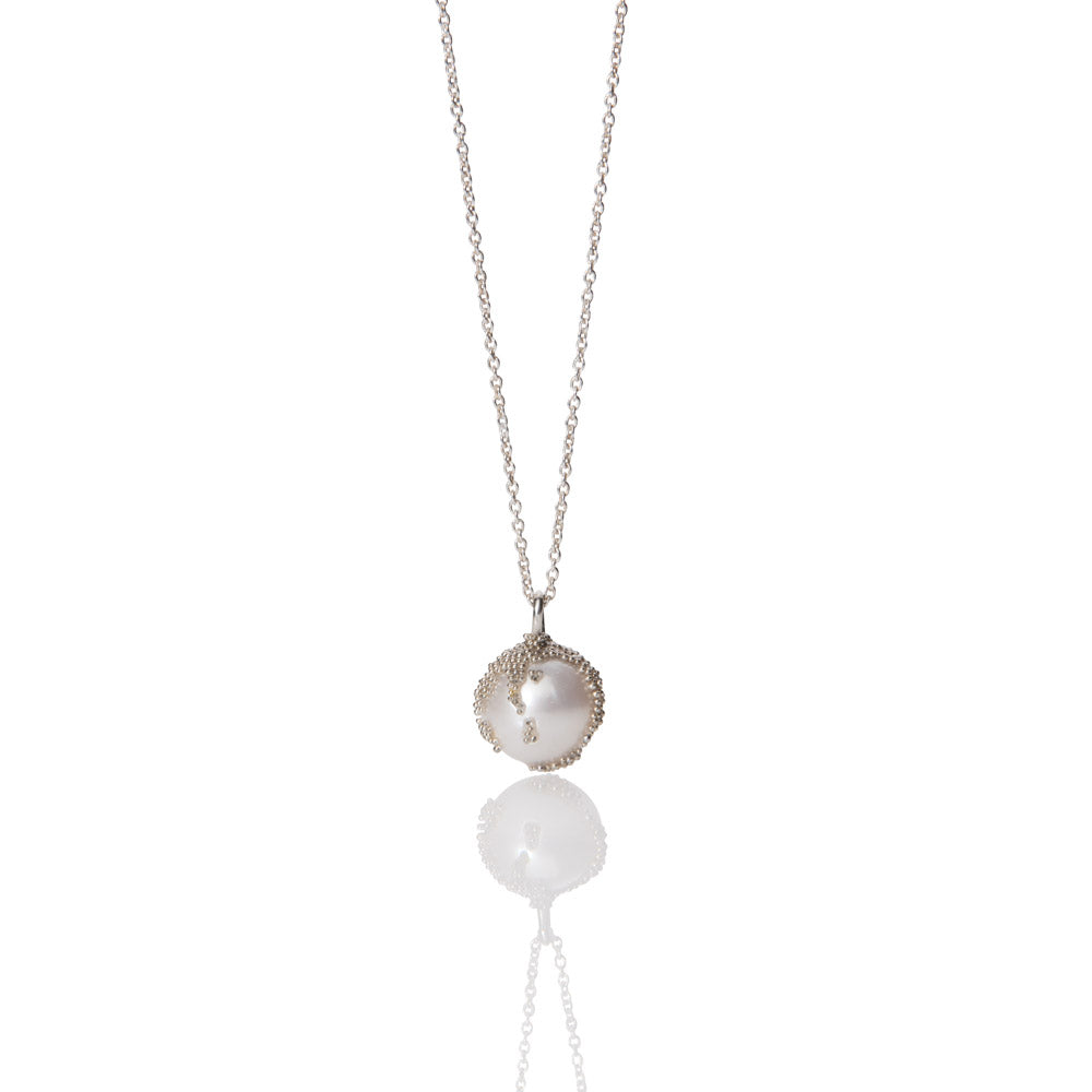 Magic Berries Silver and Pearl Necklace