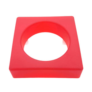 SQUARE Jelly Bangle - Red