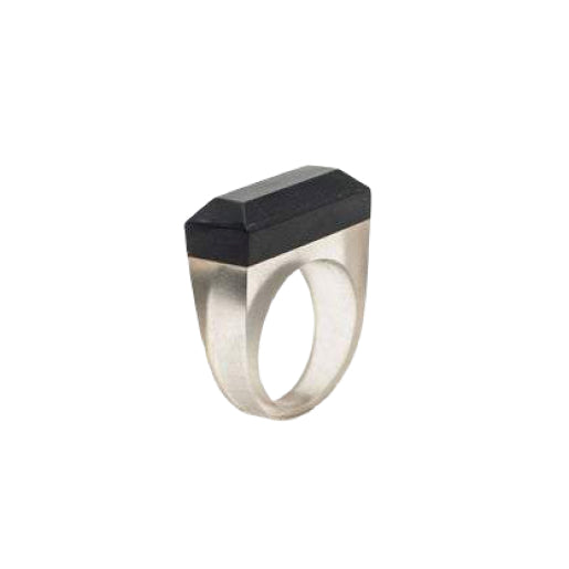 Wood & Resin Ring - Ebony - 19mm