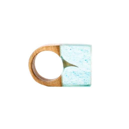 Wood & Resin Ring - Thorn - Square - 16mm