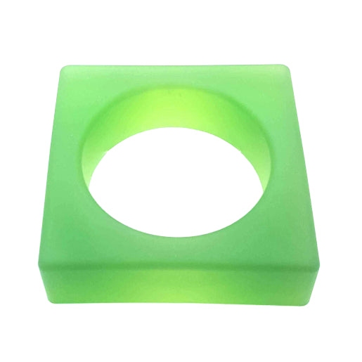 SQUARE Jelly Bangle - Green