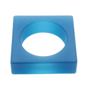 SQUARE Jelly Bangle - Blue