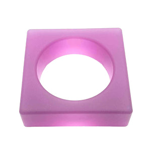 SQUARE Jelly Bangle - Purple