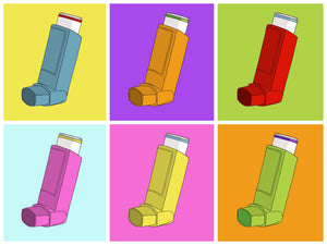 Inhaler Pop Art A3 Print