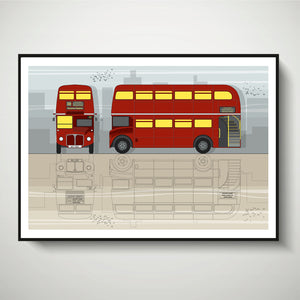 London Red Bus (Day) A4 Print