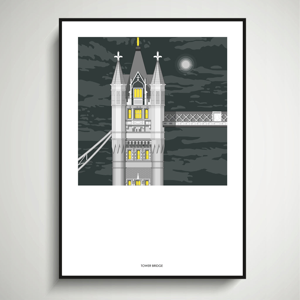 Tower Bridge (Night) A3 Print