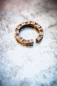 Cubii Bronze Steel Ring
