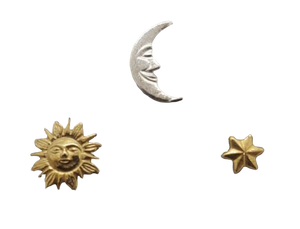 Ear Studs Sun, Moon & Star