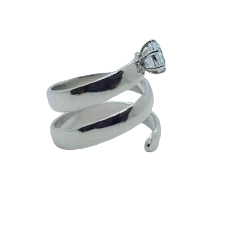 Curly Ring - Blue Topaz