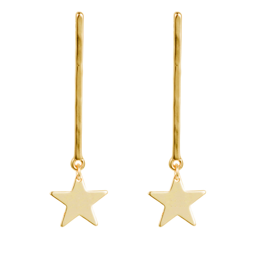 Star Drop Earring - Gold