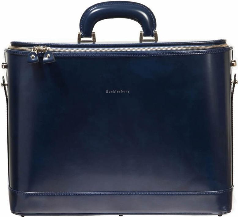 Navy Attache Case 17""