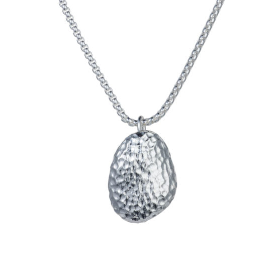 Pebble Necklace - Fine Silver Plating