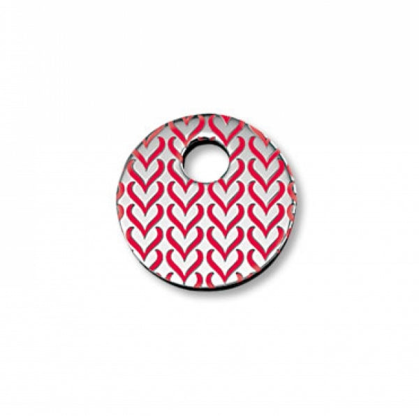 Keytop - Round Heart Pattern Red Keytop