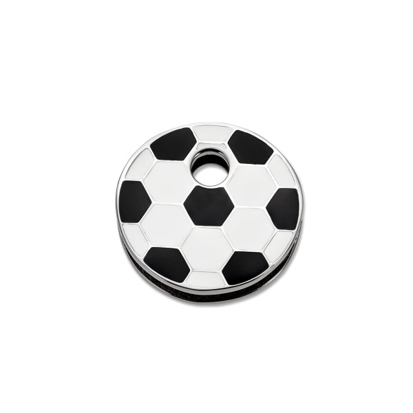 Keytop Round - Stainless Steel - Football