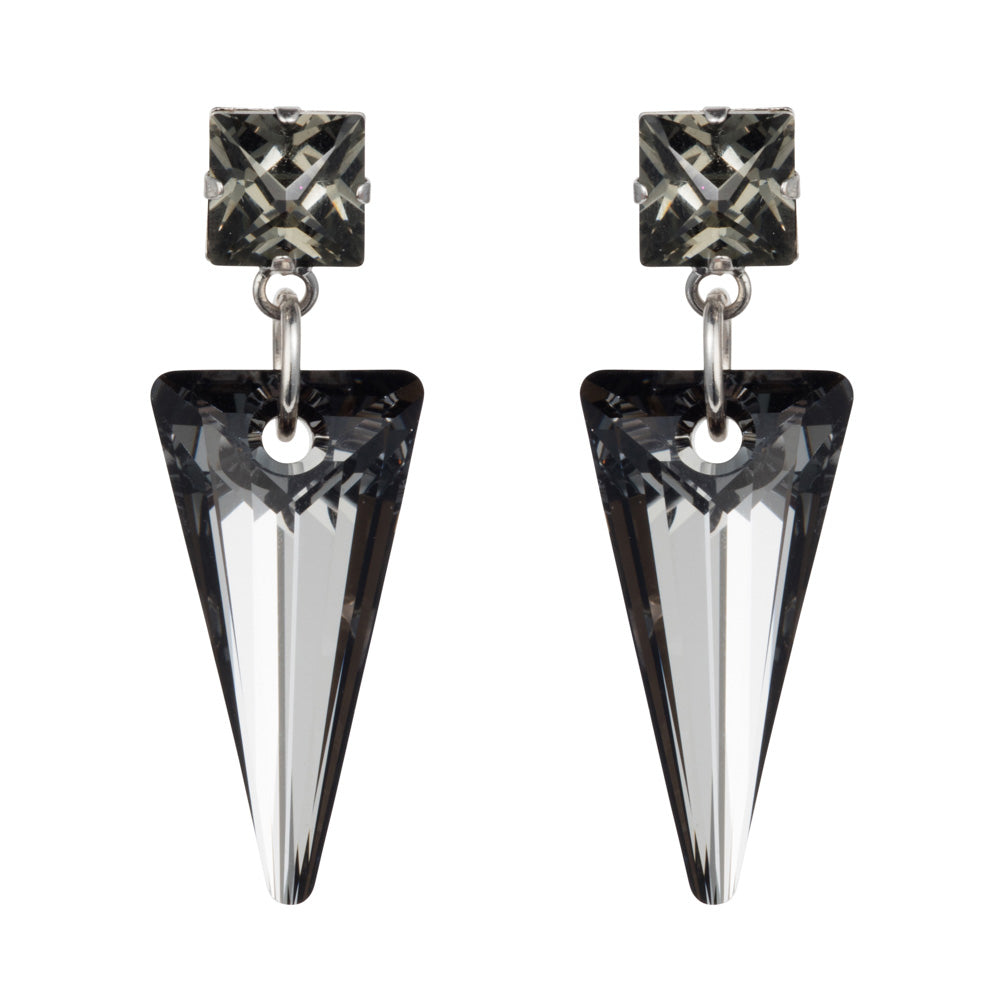 Crystal Shard Earring - Black