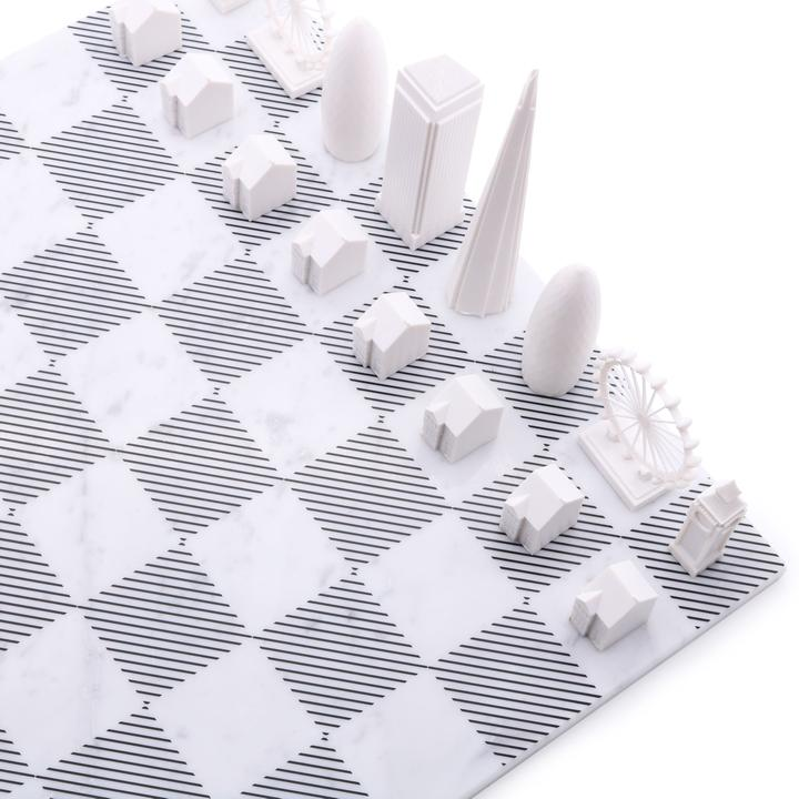 London Chess Set + Marble Board