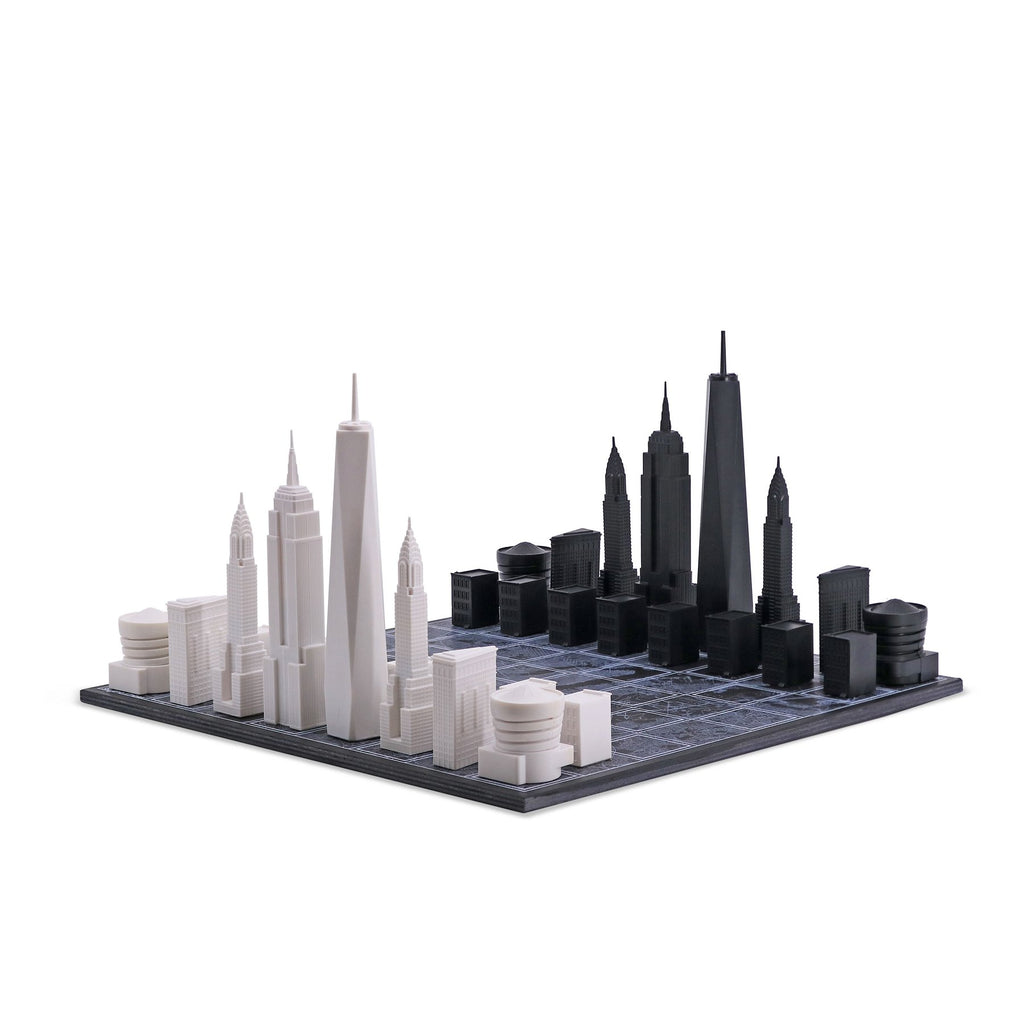 New York Chess Set + City Map Board