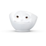 Bowl 500ml White w/ eyes - 'Crazy In Love' - By Tassen / 58 Products