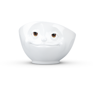 Bowl 500ml White w/ eyes - 'Crazy In Love'