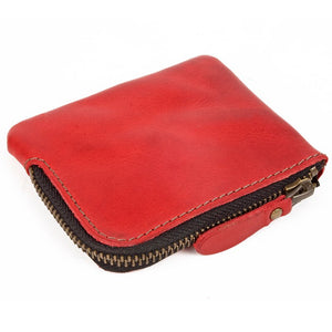 Zip Coin Purse Red