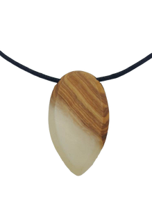 Wood & Resin Necklace - White