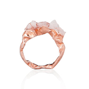 Crush Rose Gold and Rose Quartz Ring