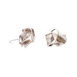 Crush Plain Studs Silver Earrings