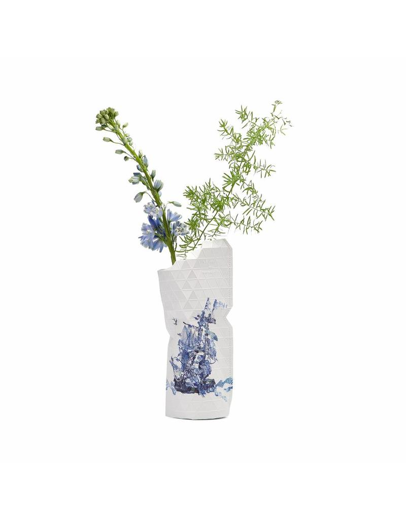 Small Paper Vase - Delft Blue