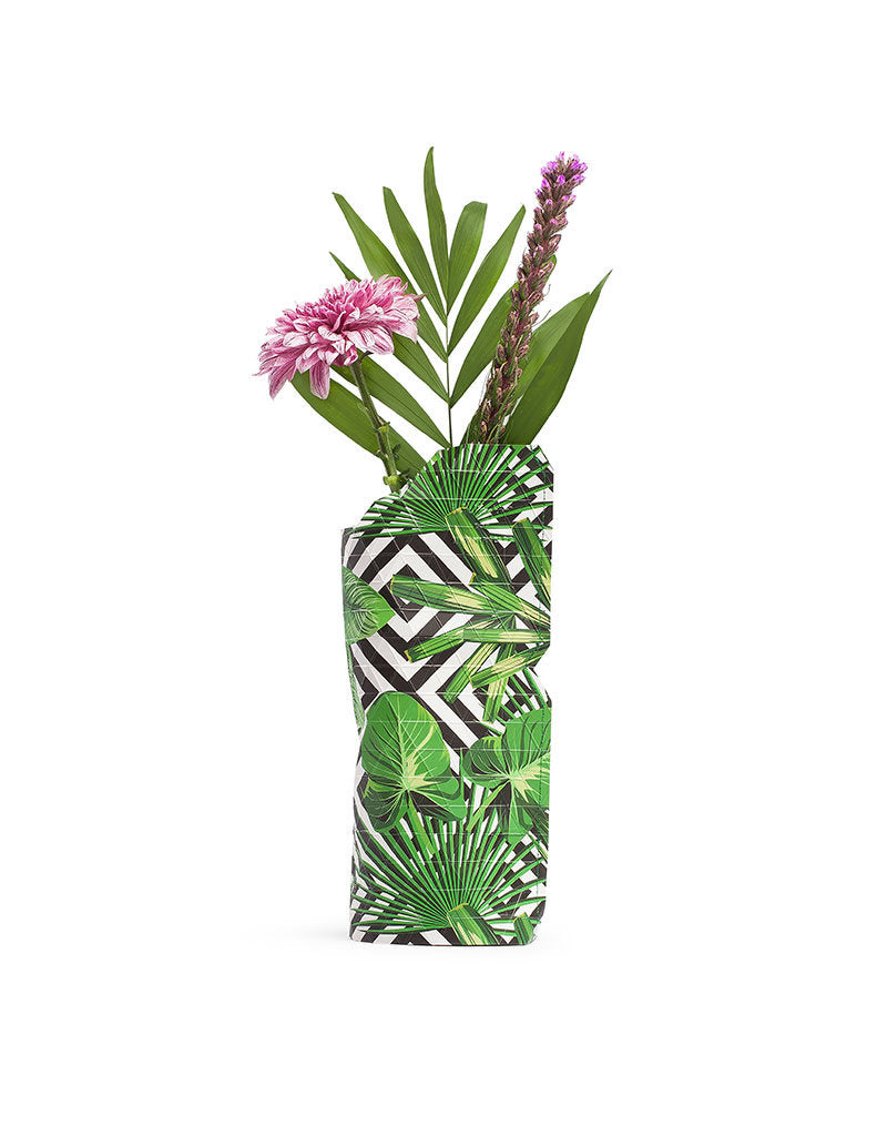 Small Paper Vase - Geo Jungle