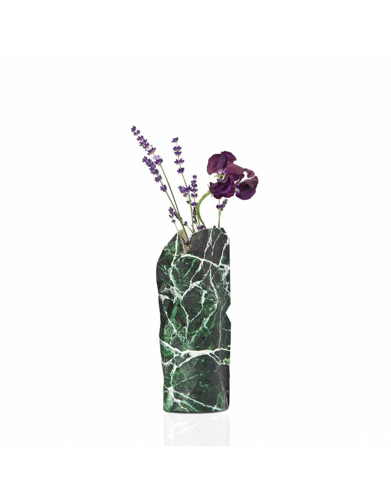 Small Paper Vase - Marble Green