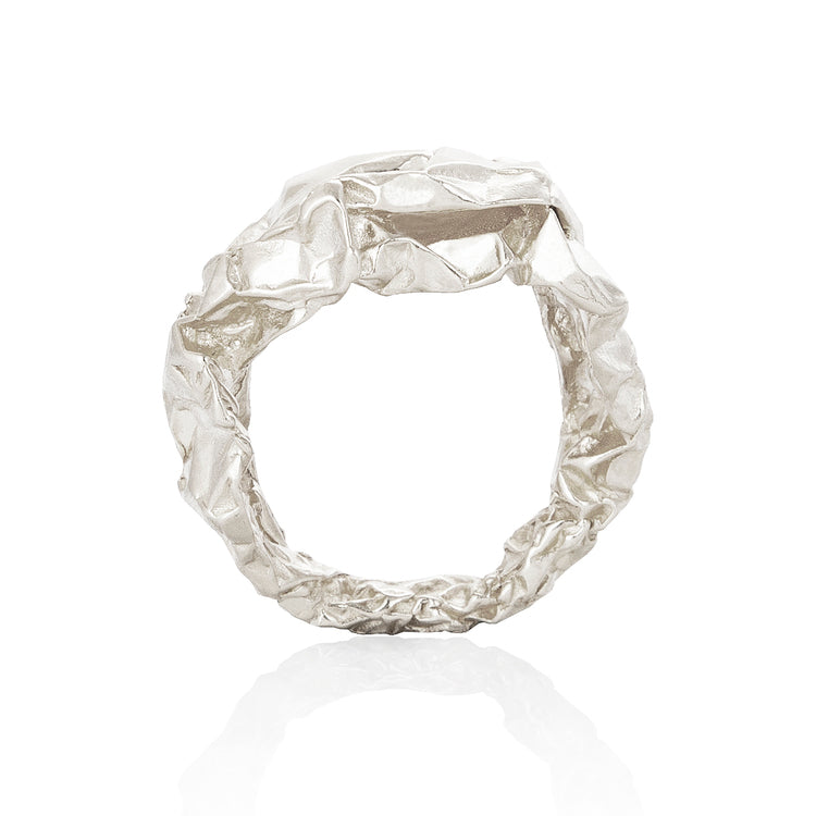 Crush Plain Silver Ring