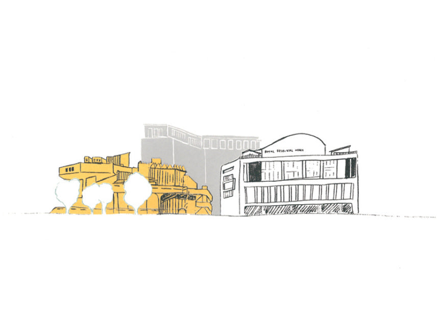 Southbank Royal Festival Hall - 24 x 34 cm