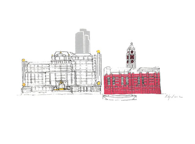 Oxo Tower & Sea Container House - 24 x 34 cm