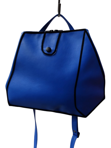 Sara - Blue Leather Bag