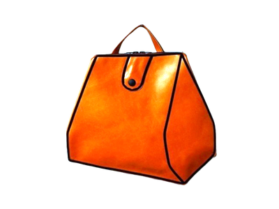 Sara - Orange Leather Bag