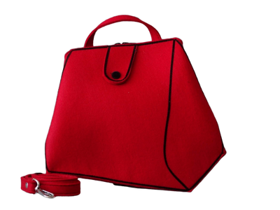 Sara - Red Woolfelt Bag