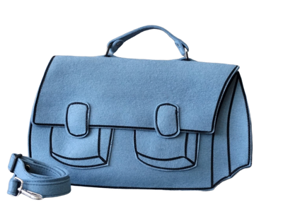 Satchel - Light Blue Woolfelt Bag