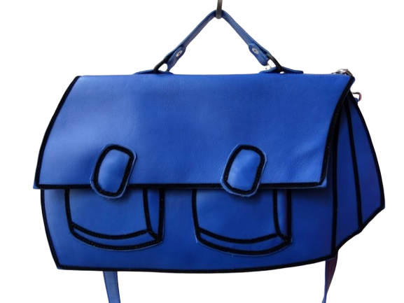 Satchel - Blue Leather Bag