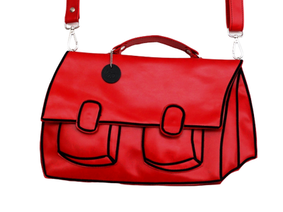Satchel - Red Leather Bag