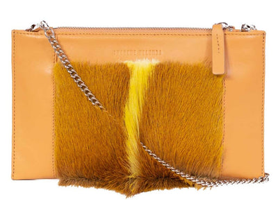 Yellow Clutch - with a Fan