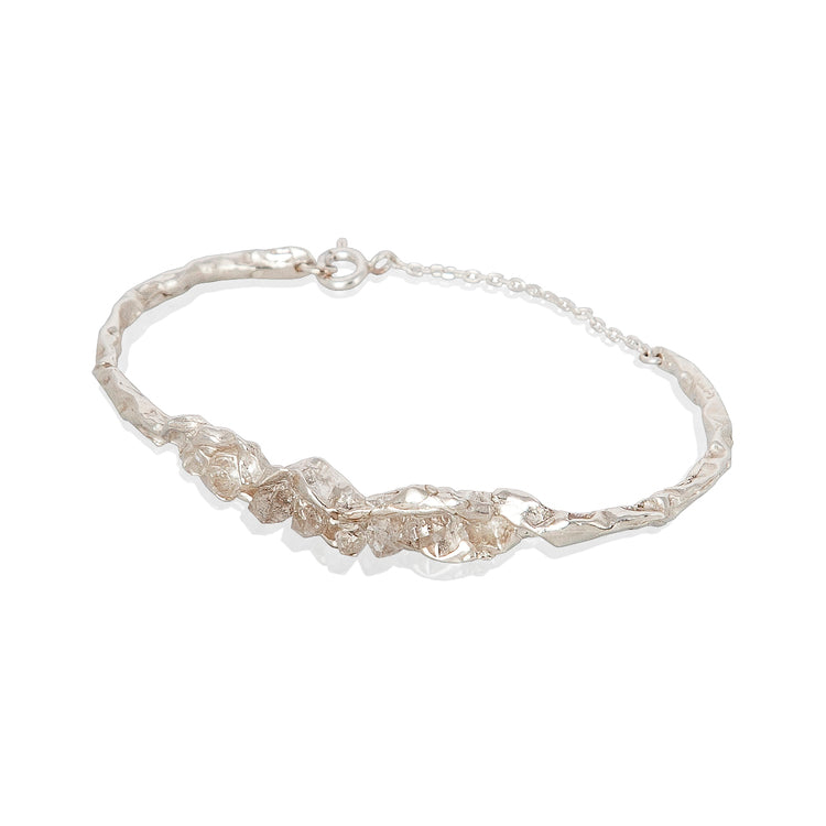 Crush Statement Silver and Diamonds Bracelet