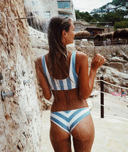 Aaliyah Striped Swimsuit