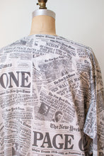 Load image into Gallery viewer, 1980s Newspaper Print Nightgown | Page One