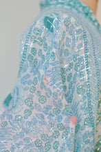 Load image into Gallery viewer, Reserved 1970s Sea-foam Indian Gauze Caftan | Adini