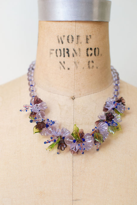 Vintage Venetian Glass Flower Garland Necklace