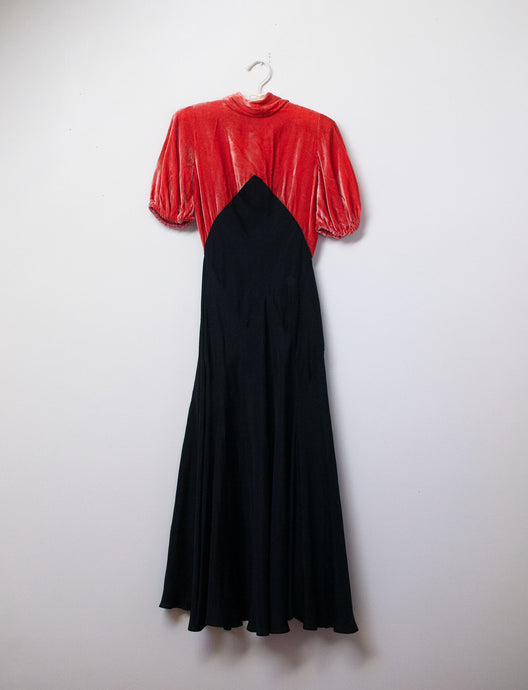 1930s Velvet Dress | AS IS