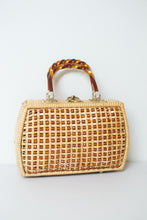 Load image into Gallery viewer, 1960s Beaded Wicker Bag